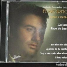 CDs de Música: CD DOBLE FOSFORITO - GENIO Y SOLERA + CANTE POR DERECHO - PACO DE LUCÍA Y EL HABICHUELA GUITARRAS. Lote 231990900