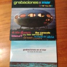 CDs de Música: CDS GRABACIONES EN EL MAR. NIÑO GUSANO, LA HABITACIÓN ROJA LA GRANJA ZINEDINES EL REGALO DE SILVIA. Lote 232059545
