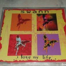CDs de Música: SWANN - I LOVE MY LIFE - CD SINGLE 3 VERSIONES MAX MUSIC EURODANCE DIFÍCIL DE ENCONTRAR!. Lote 232078880