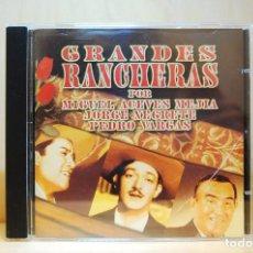 CDs de Música: GRANDES RANCHERAS - POR MIGUEL ACEVES MEJÍA, JORGE NEGRETE, PEDRO VARGAS - CD -. Lote 232081450