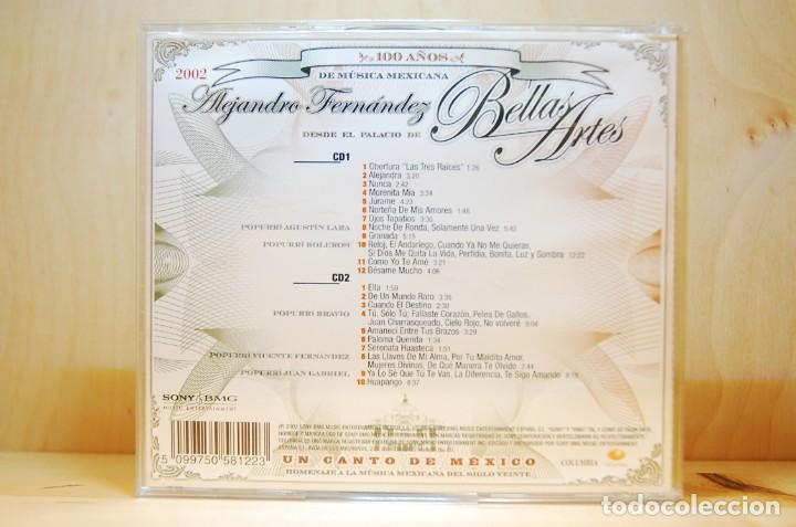 CDs de Música: ALEJANDRO FERNÁNDEZ - En vivo en el Palacio de Bellas Artes - CD - - Foto 2 - 232081490