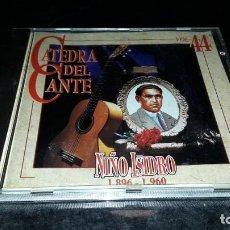 CDs de Música: NIÑO ISIDRO. 1896 - 1960. CATEDRA DEL CANTE VOL. 44. EDICION DE 1996. RARA. Lote 232092610