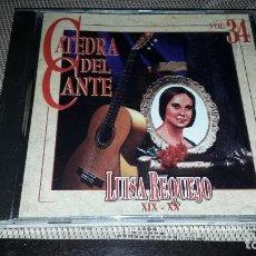 CDs de Musique: LUISA REQUEJO. XIX - XX. CATEDRA DEL CANTE VOL. 34. EDICION DE 1996.. Lote 232205925