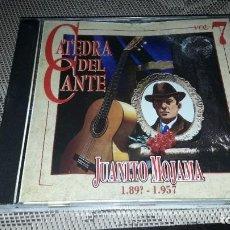 CDs de Música: JUANITO MOJAMA. 189? - 1957. CATEDRA DEL CANTE VOL. 7. EDICION DE 1996.. Lote 232207475