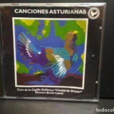 CDs de Música: CANCIONES ASTURIANAS CORO CAPILLA POLIFONICA OVIEDO ASTURIAS CD SFA PEPETO. Lote 232323320