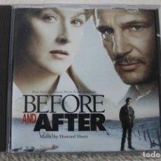 CDs de Música: BSO CD BEFORE AND AFTER ANTES Y DESPUES HOWARD SHORE. Lote 232377715