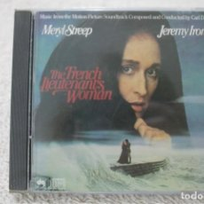 CDs de Música: BSO CD THE FRENCH LIEUTENANT'S WOMAN LA MUJER DEL TENIENTE FRANCES CARL DAVIS MADE IN CANADA 1981. Lote 232378520
