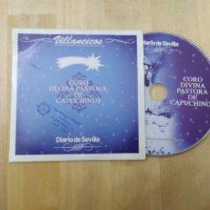 CDs de Música: VILLANCICOS CORO DIVINA PASTORA DE CAPUCHINOS - DIARIO DE SEVILLA. Lote 232383470