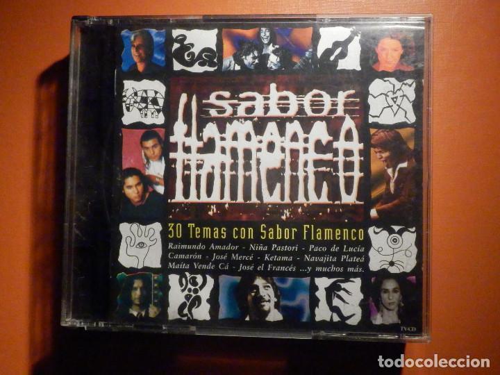 2 CD - DOBLE COMPACT DISC - SABOR FLAMENCO - 30 TEMAS CON SABOR - VARIOS ARTISTAS - BMG 2001 (Música - CD's Flamenco, Canción española y Cuplé)