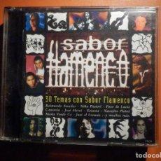 CDs de Música: 2 CD - DOBLE COMPACT DISC - SABOR FLAMENCO - 30 TEMAS CON SABOR - VARIOS ARTISTAS - BMG 2001. Lote 232386660