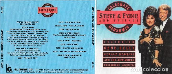 STEVE & EYDIE AND FRIENDS - CELEBRATE GERSHWIN - STEVE LAWRENCE Y EYDIE GORME (Música - CD's Melódica )