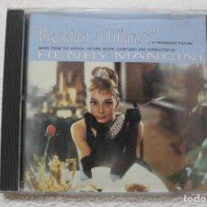 CDs de Música: BSO CD BREAKFAST AT TIFFANY'S DESAYUNO CON DIAMANTES HENRY MANCINI. Lote 232723570