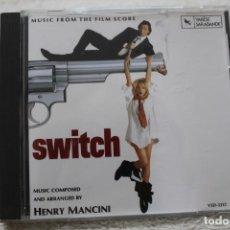 CDs de Música: BSO CD SWITCH UNA RUBIA MUY DUDOSA HENRY MANCINI. Lote 232723930