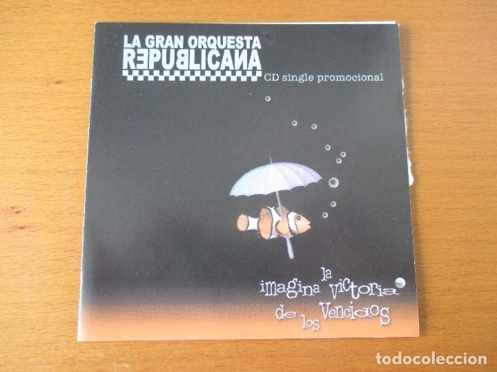 LA GRAN ORQUESTA REPUBLICANA IMAGINA LA VICTORIA DE LOS VENCIDOS CD SINGLE PROMOCIONAL TRALLA 2001 (Música - CD's Reggae)
