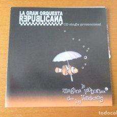 CDs de Música: LA GRAN ORQUESTA REPUBLICANA IMAGINA LA VICTORIA DE LOS VENCIDOS CD SINGLE PROMOCIONAL TRALLA 2001. Lote 232742295