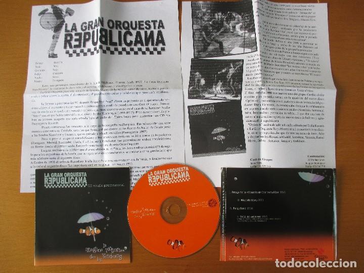 CDs de Música: LA GRAN ORQUESTA REPUBLICANA IMAGINA LA VICTORIA DE LOS VENCIDOS CD SINGLE PROMOCIONAL TRALLA 2001 - Foto 3 - 232742295