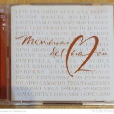 CDs de Música: MEMORIAS DEL CORAZON - 2 CD'S 2001 (AUTE, MOCEDADES, PERALES, PIMPINELA, NINO BRAVO, JUAN PARDO..). Lote 233001870