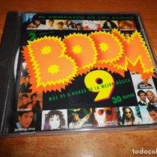 CDs de Música: BOOM 9 DOBLE CD 1993 LOQUILLO Y LOS TROGLODITAS PAUL MCCARTNEY FREDDIE MERCURY DURAN DURAN 2 CD. Lote 233007630