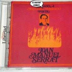 CDs de Música: SERRAT, DEDICADO A ANTONIO MACHADO, POETA, CD, JOAN JUAN MANUEL. Lote 289400103