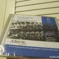 CD di Musica: *HOMENAJE A CÉSAR SÁNCHEZ*ESCOLANÍA DE NUESTRA SEÑORA DEL RECUERDO*DESCATALOGADO-PRECINTADO*. Lote 233336040