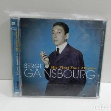 CD de Música: DISCO 2 X CD. SERGE GAINSBOURG – HIS FIRST FOUR ALBUMS. COMPACT DISC.. Lote 233511100
