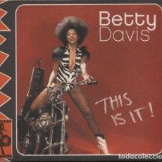 CDs de Música: BETTY DAVIS - THIS IS IT!. Lote 233600070