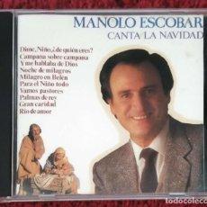 CDs de Música: MANOLO ESCOBAR (CANTA LA NAVIDAD) CD 1990. Lote 233985465