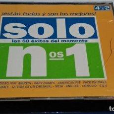 CDs de Música: CD VARIOS ( SOLO Nº 1. LOS 50 ÉXITOS DEL MOMENTO ) ESTÁN TODOS Y SON LOS MEJORES. 4 CDS - 2000 VALEN. Lote 234097740
