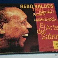CDs de Música: CD ALBUM, DIGIPAK + LIBRETO( BEBO VALDÉS TRIO - EL ARTE DEL SABOR)2001 LOLA RECORDS - LATIN JAZZ. Lote 234115595