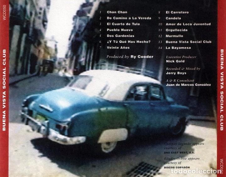 CDs de Música: BUENA VISTA SOCIAL CLUB (CD) - Foto 2 - 234330595