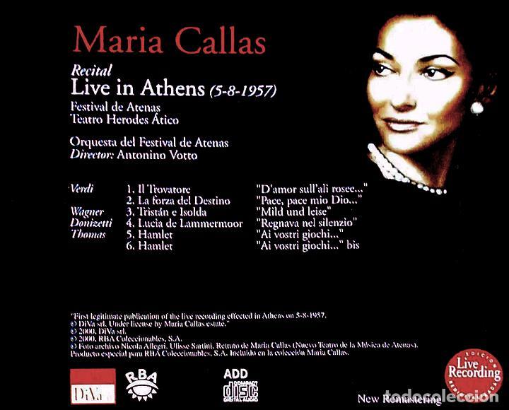 CDs de Música: MARIA CALLAS. Live in Athens 5.8.1957 (CD) - Foto 2 - 234339745