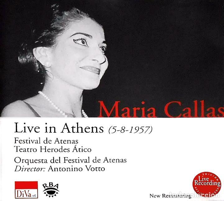 MARIA CALLAS. LIVE IN ATHENS 5.8.1957 (CD) (Música - CD's Clásica, Ópera, Zarzuela y Marchas)