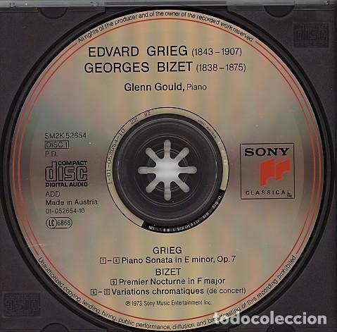 CDs de Música: THE GLEN GOULD EDITION. Grieg / Bizet / Sibelius: Piano Works (2 CD) - Foto 3 - 234369955