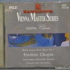 CDs de Música: CD. CHOPIN. IMPROMPTUS. NOCTURNES. FANTASIE. Lote 234370415