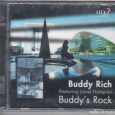 CDs de Música: BUDDY'S ROCK. BUDDY RICH, LIONEL HAMPTON NUEVO PRECINTADO. Lote 234407915