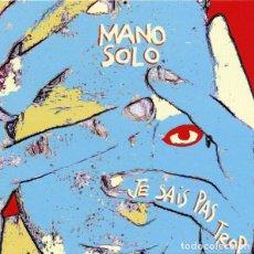 CDs de Música: MANU SOLO - JE SAIS PAS TROP (CD). Lote 234560325