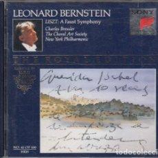 CDs de Música: LEONARD BERNSTEIN - FRANZ LISZT A FAUST SYMPHONY - CD. Lote 234629030