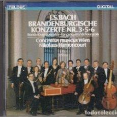 CDs de Música: JS BACH - BRANDENBURGISCHE KONZERTE NR 3 5 6 - NIKOLAUS HARNONCOURT - CD. Lote 234634890