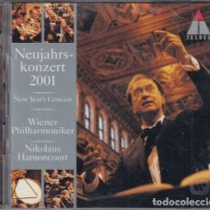 CDs de Música: NIKOLAUS HARNONCOURT - NEUJAHRSKONZERT 2001 - WIENER PHILHARMONIKER - CD. Lote 234639295