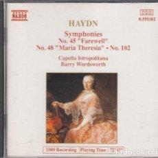 CDs de Música: HAYDN - SYMPHONIES NO 45 NO 48 NO 102 - CD. Lote 234643880