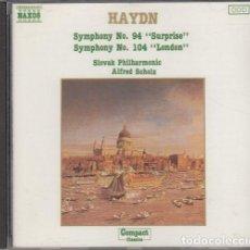 CDs de Música: HAYDN - SYMPHONIES 94 & 04 - SLOVAK PHILARMONIC - CD. Lote 234645885