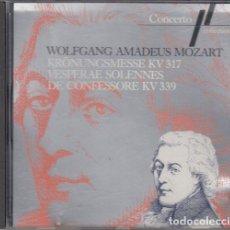 CDs de Música: WOLFGANG AMADEUS MOZART - KRONUNGSMESSE KV 317 - VESPERAE SOLENNES DE CONFESSORE KV 339 - CD. Lote 234647435
