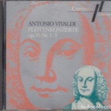 CDs de Música: ANTONIO VIVALDI - FLOTENKONZERTE OP 10 NR 1-5 - CD. Lote 234648450