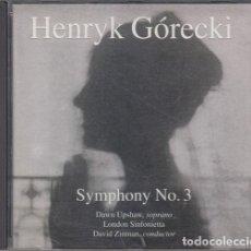 CDs de Música: HENRYK GÓRECKI - SYMPHONY NO 3 - CD. Lote 234671240
