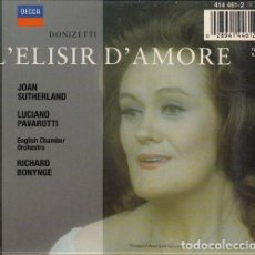 CDs de Música: L'ELISIR D'AMORE - JOAN SUTHERLAND - LUCIANO PAVAROTTI - CD. Lote 234688380