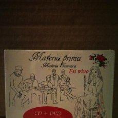 CDs de Música: MATERIA PRIMA/MATERIA FLAMENCA EN VIVO. Lote 234777260