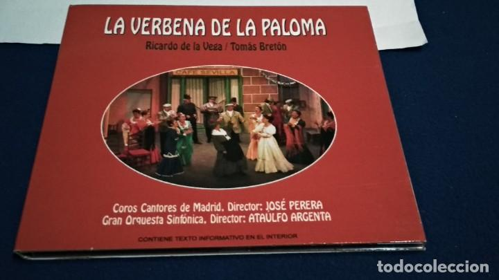 CD DIGIPAKC (LA VERBENA DE LA PALOMA COMPLETA - RICARDO DE LA VEGA / TOMÁS BRETÓN ) 2009 NOVOSON (Música - CD's Clásica, Ópera, Zarzuela y Marchas)