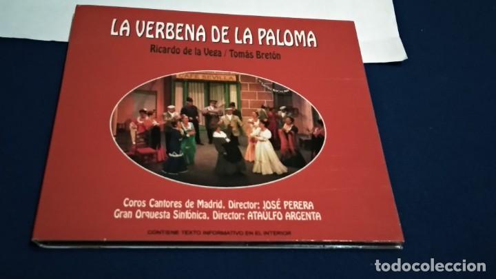 CDs de Música: CD DIGIPAKC (LA VERBENA DE LA PALOMA COMPLETA - RICARDO DE LA VEGA / TOMÁS BRETÓN ) 2009 NOVOSON - Foto 2 - 234784565