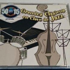 CDs de Música: CD DOBLE 2 DISCOS ( GRADES CLÁSICOS EN CLAVE DE JAZZ ) 2000 DRO TELECINCO. Lote 234784730