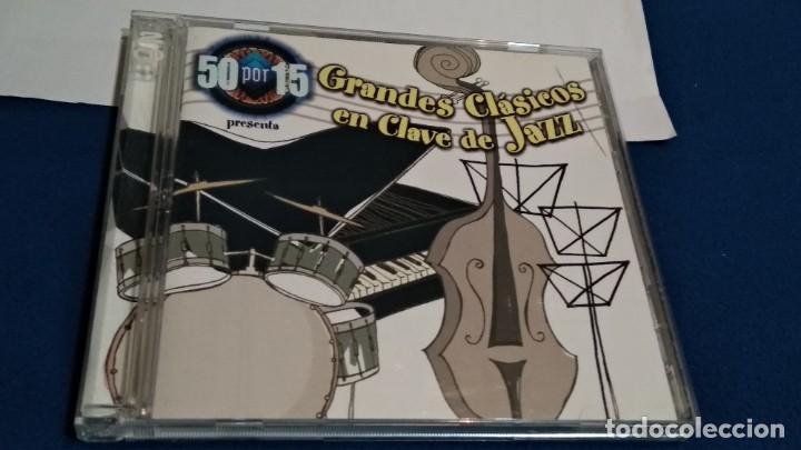 CDs de Música: CD DOBLE 2 DISCOS ( GRADES CLÁSICOS EN CLAVE DE JAZZ ) 2000 DRO TELECINCO - Foto 2 - 234784730